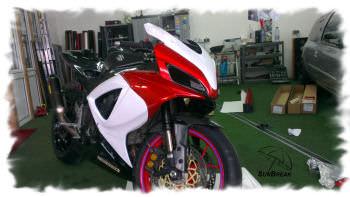Motorrad folieren preis